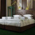 wizualkizacja projektu wnętrza pokoju hotelowego w stylu klasycznym