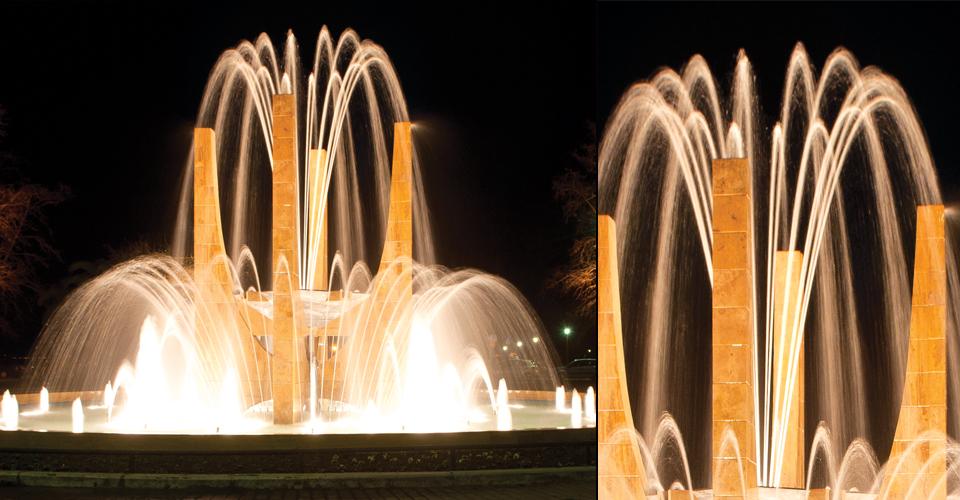 lily1 efektowna fontanna z pomnikiem