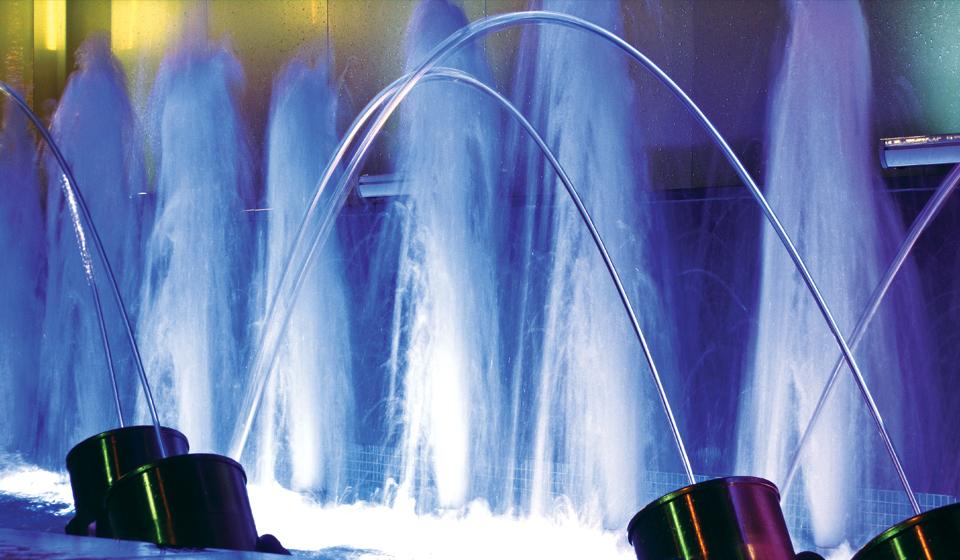 photojumping12 fontanan z efektem skaczących strumieni wody